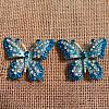 Butterfly Blue Turquoise Bling
