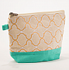 Cayman Glamour Cosmetic Bag Mint/Gold