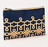 Florence Glamour Cosmetic Bag in Navy
