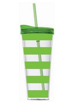 Tumbler Straw Lime Stripe