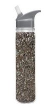 Water Bottle Silver Glitter